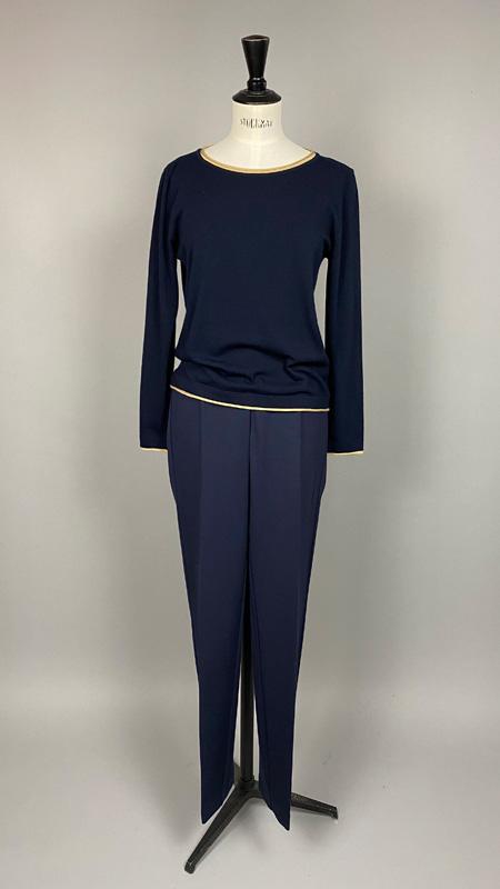 Pullover mit Kontrasträndern, Anna Seravalli