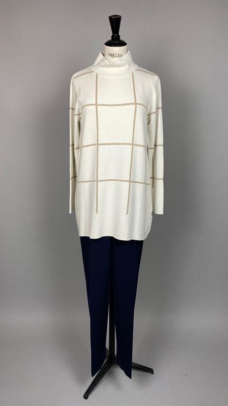 Pullover mit Streifen und Turtleneck, Anna Seravalli