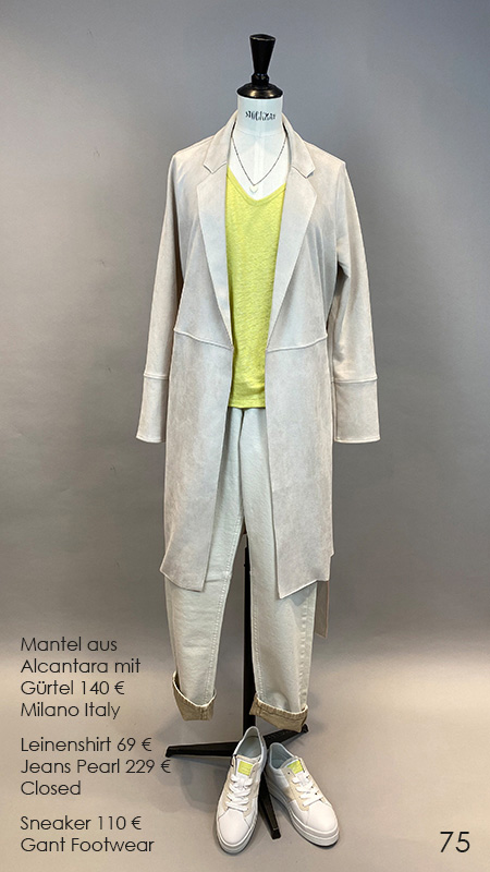 75 Mantel / Shirt / Sneaker Milano Italy / Closed / Gant