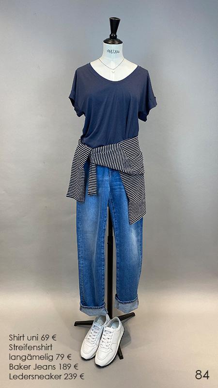 84 Shirt / Streifenshirt / Jeans / Sneaker Closed