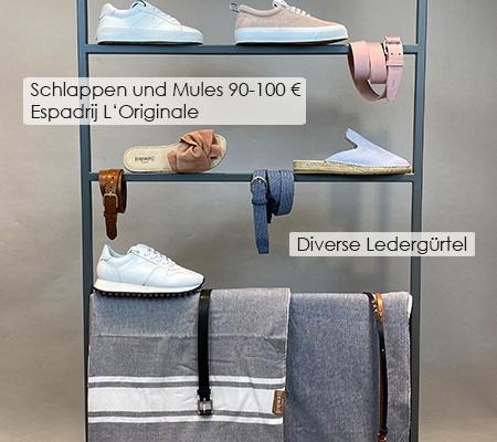 87 Sneaker / Gürtel / Tücher Gant / Closed / Espadrij